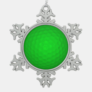 Bright Green Golf Ball Ornament