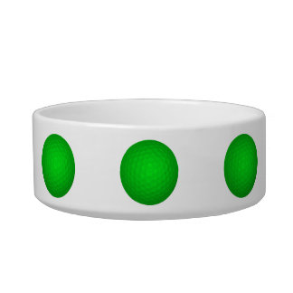 Bright Green Golf Ball Pet Water Bowl