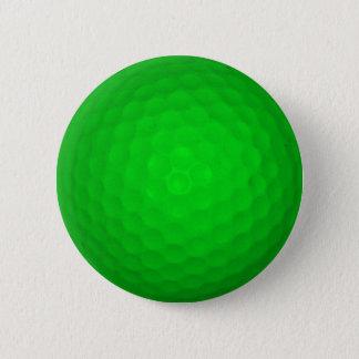 Bright Green Golf Ball Pinback Button