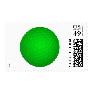 Bright Green Golf Ball Stamp