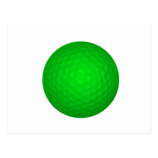 Bright Green Golf Ball Post Cards
