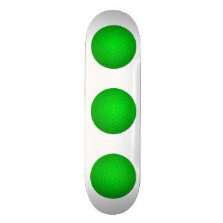 Bright Green Golf Ball Skateboard Decks