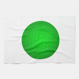 Bright Green Golf Ball Towel