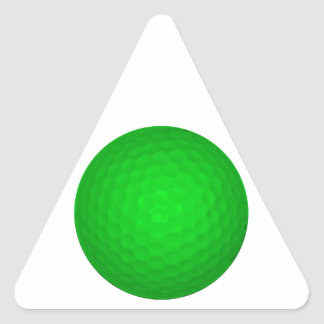 Bright Green Golf Ball Triangle Sticker