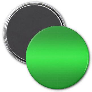 Bright Green Gradient - Emerald Greens Template B 3 Inch Round Magnet