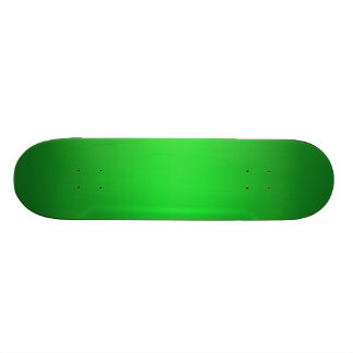 Bright Green Gradient - Emerald Greens Template B Skateboard