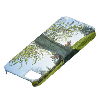 Bright green grass and blue sky with tree iPhone SE/5/5s case