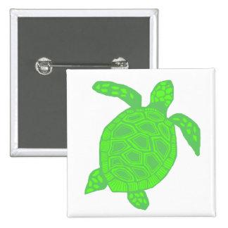 Bright Green Honu sea turtle button