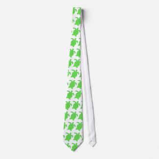 Bright Green Honu sea turtle tie