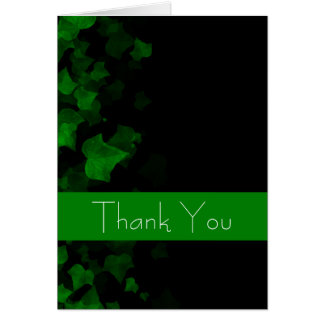 Bright Green Ivy Leaves Card