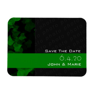 Bright Green Ivy Leaves Rectangular Photo Magnet