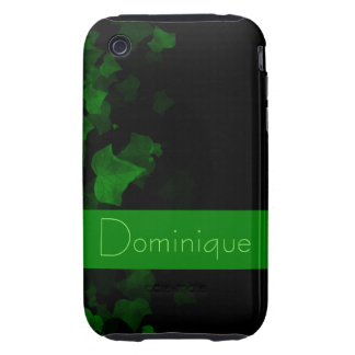 Bright Green Ivy Leaves Tough iPhone 3 Covers