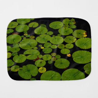 Bright green lily pads baby burp cloth