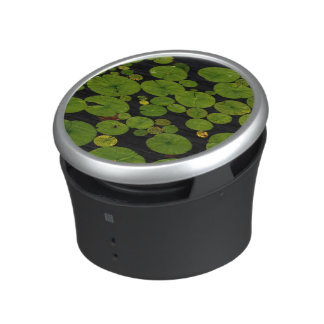 Bright green lily pads bluetooth speaker