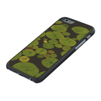 Bright green lily pads carved maple iPhone 6 case