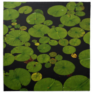 Bright green lily pads cloth napkin