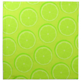 Bright green lime slices cocktail napkins