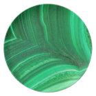 Bright green Malachite Mineral Melamine Plate