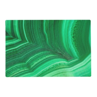 Bright Green Malachite Mineral Placemat at Zazzle