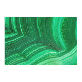 Bright green Malachite Mineral Placemat