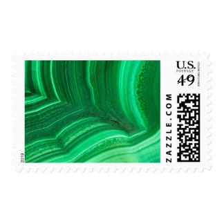 Bright green Malachite Mineral Postage