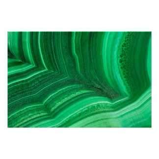 Bright green Malachite Mineral Poster