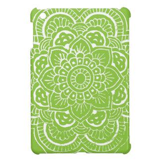 BRIGHT GREEN MANDALA iPad MINI COVER