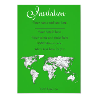 Bright green map card