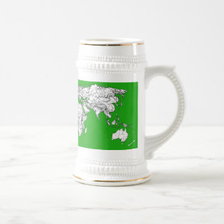 Bright green map mugs