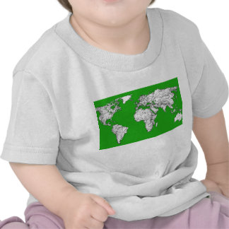 Bright green map tshirts