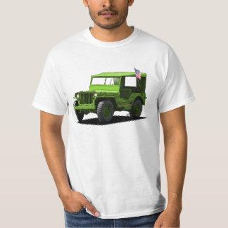 Bright Green MJ Military Vehicle T-Shirt