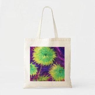 Bright Green Mums Tote Bag