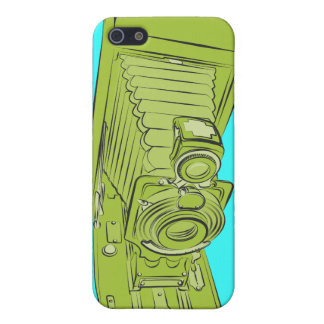 Bright Green Old Camera iPhone SE/5/5s Cover