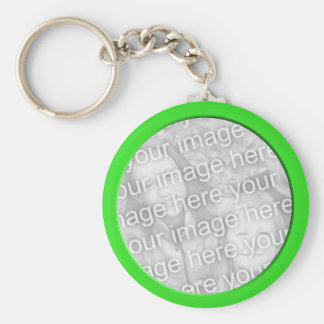bright green photo frame keychain