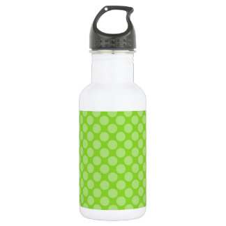 Bright Green Polka Dots Stainless Steel Water Bottle