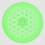 Bright Green Psychedelic Sacred Geometry Mandala Sticker