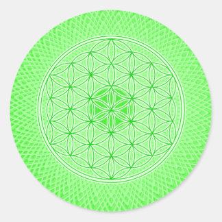 Bright Green Psychedelic Sacred Geometry Mandala Sticker