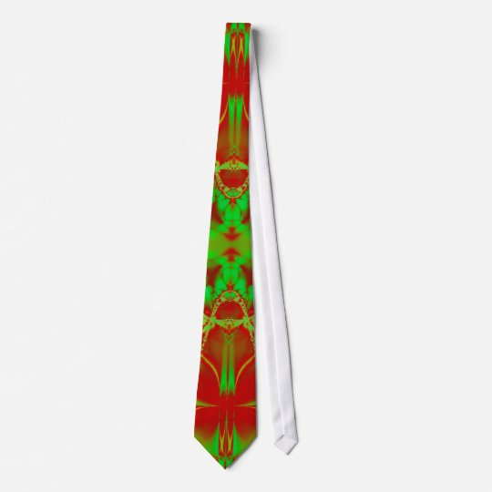 bright green red neck tie