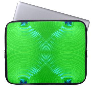 Bright green ripple 4 computer sleeve