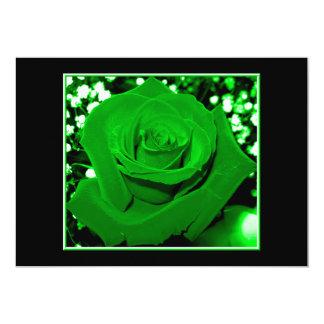 Bright Green Roses 5x7 Paper Invitation Card
