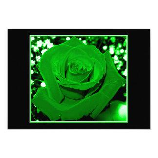 Bright Green Roses Card