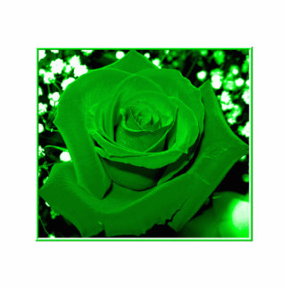 Bright Green Roses Cut Outs