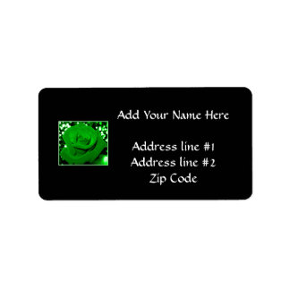 Bright Green Roses Label