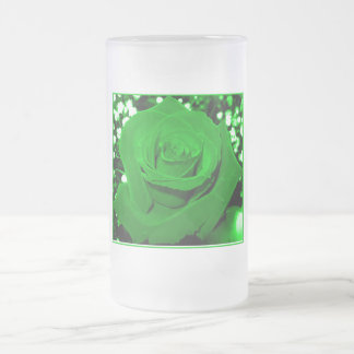 Bright Green Roses Mugs