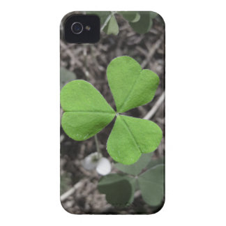 Bright Green Shamrock against Black and White iPhone 4 Case