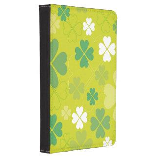 Bright Green Shamrock Design Kindle 4 Cover