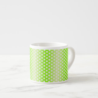 Bright green square pattern espresso cup