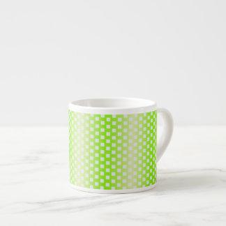 Bright green square pattern espresso cup
