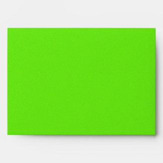 Bright Green Star Dust Envelope