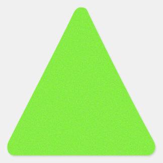 Bright Green Star Dust Triangle Sticker